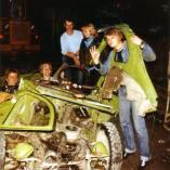 Anders, Rune , Elisabeth og Atle med Citroen