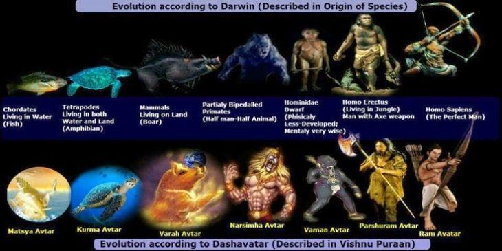 darwin theory dan awatara hindu