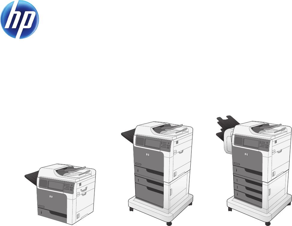 User manual HP LaserJet Enterprise M4555 MFP (376 pages)