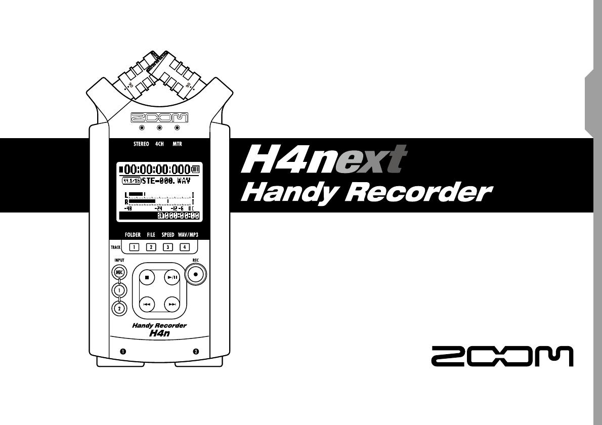 User manual Zoom H4N (156 pages)