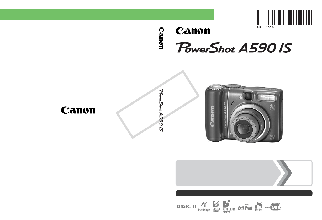 User manual Canon PowerShot A590 IS (211 pages)