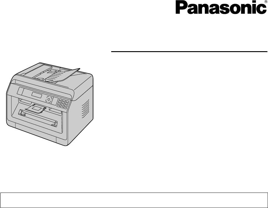 User manual Panasonic KX-MB2128 (140 pages)