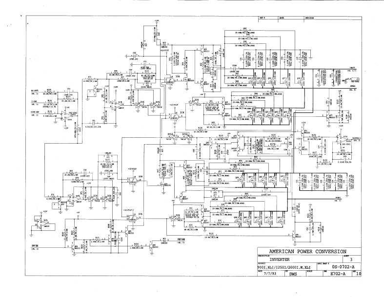 Сервисная инструкция APC SMART-UPS-900, 1250, 2000 (схема