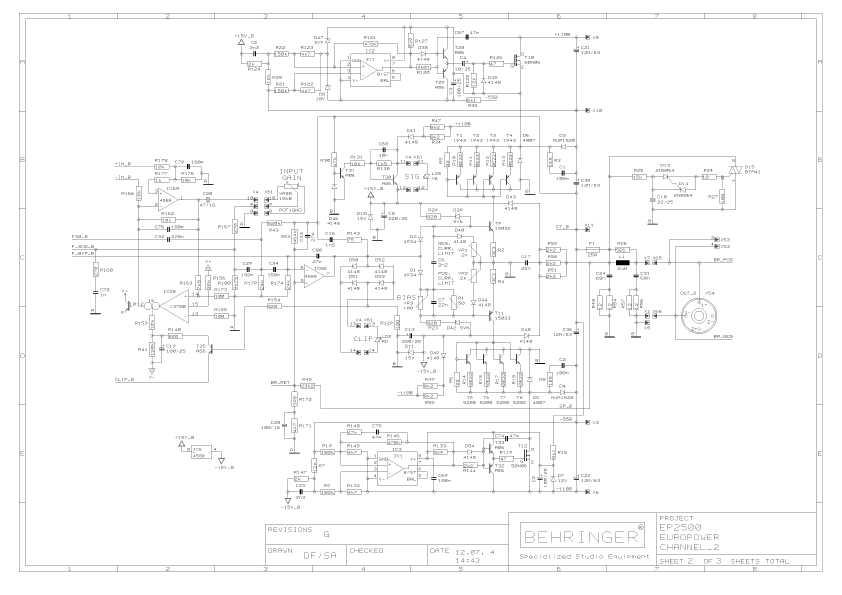 Сервисная инструкция Behringer EP2500 ― Manual-Shop.ru