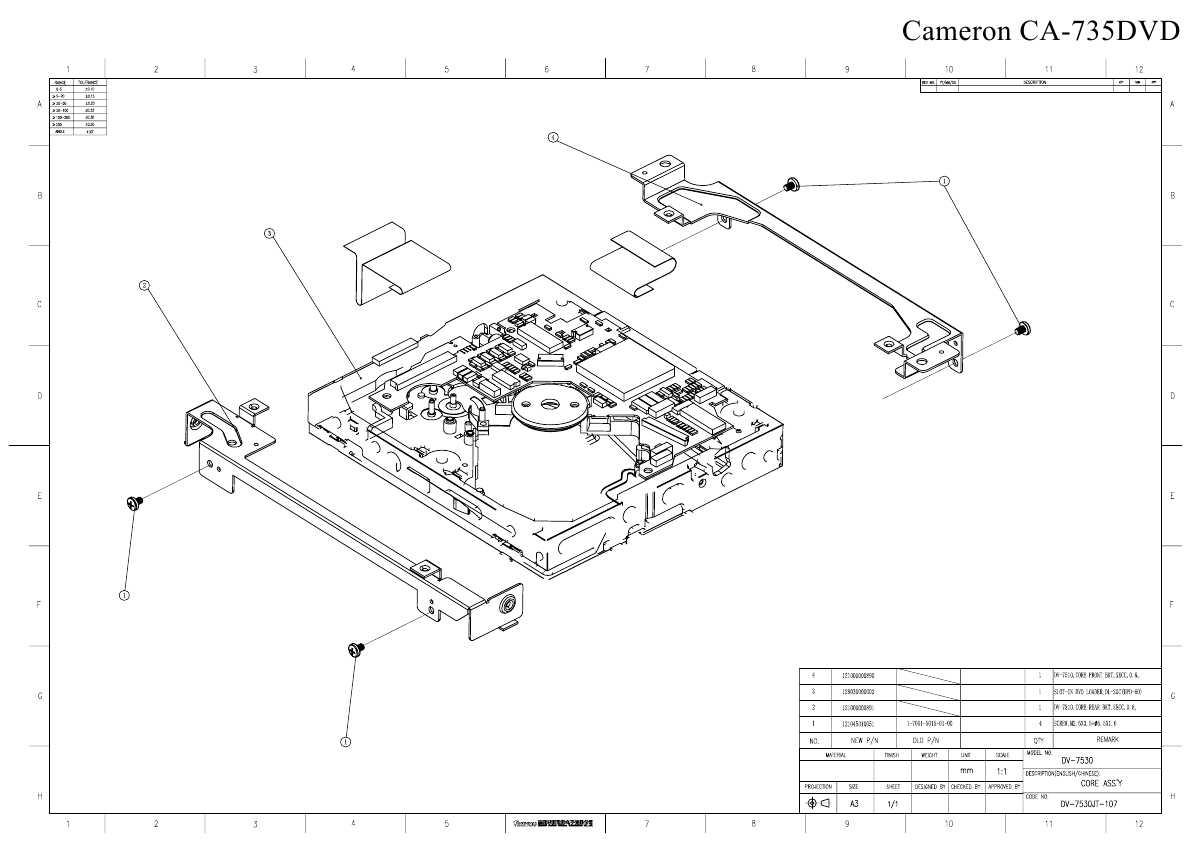 Сервисная инструкция Cameron CA-735DVD ― Manual-Shop.ru