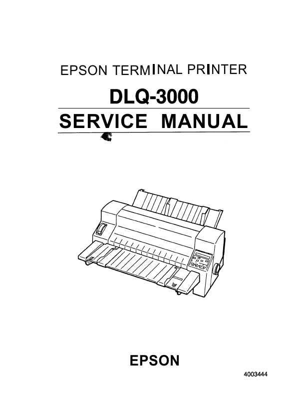 Сервисная инструкция Epson DLQ-3000 ― Manual-Shop.ru