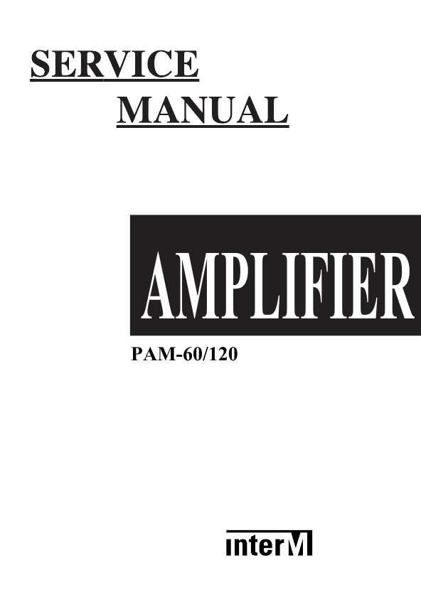 Сервисная инструкция Interm PAM-60, PAM-120 ― Manual-Shop.ru