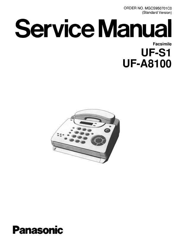 Сервисная инструкция Panasonic UF-A8100 ― Manual-Shop.ru