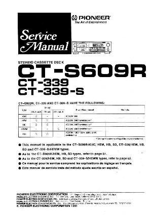 Сервисная инструкция Pioneer CT-S339, CT-S609R ― Manual