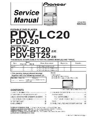 Сервисная инструкция Pioneer PDV-LC20 ― Manual-Shop.ru
