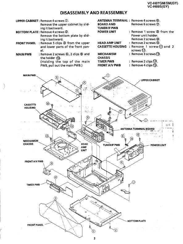 Сервисная инструкция Sharp VC-H87GM, VC-H87SM, VC-H89S