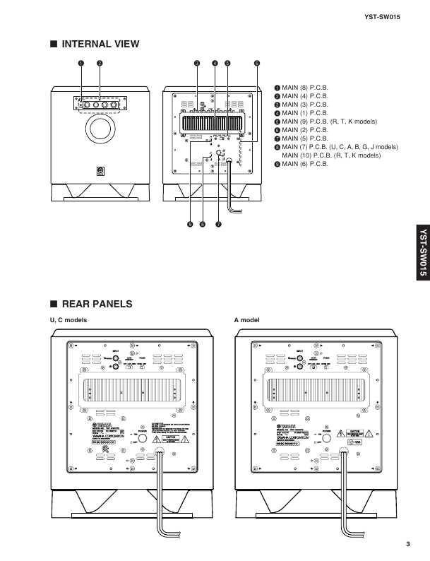 Сервисная инструкция Yamaha YST-SW015 ― Manual-Shop.ru