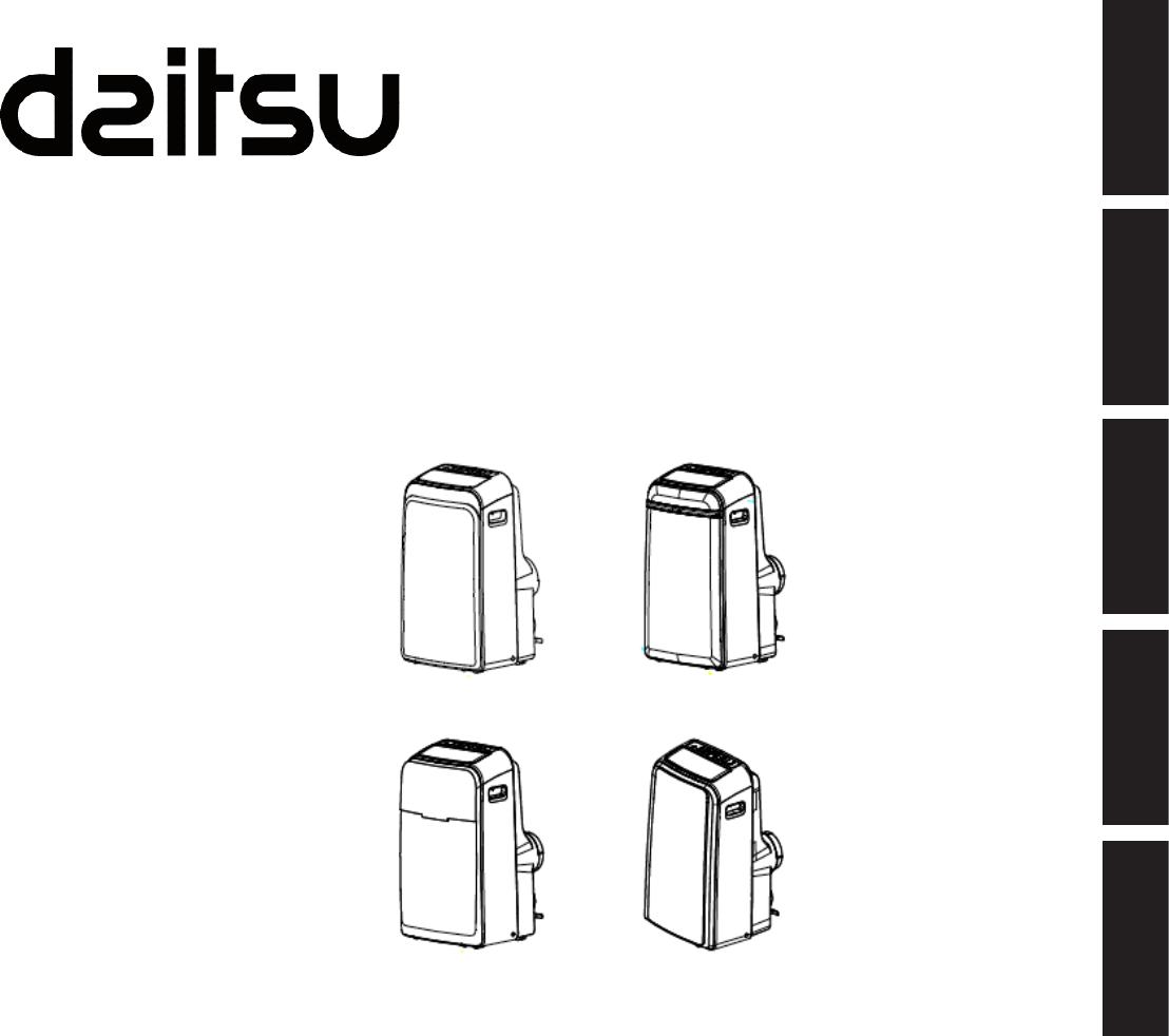 Manual de usuario Daitsu APD12-HR (92 páginas)