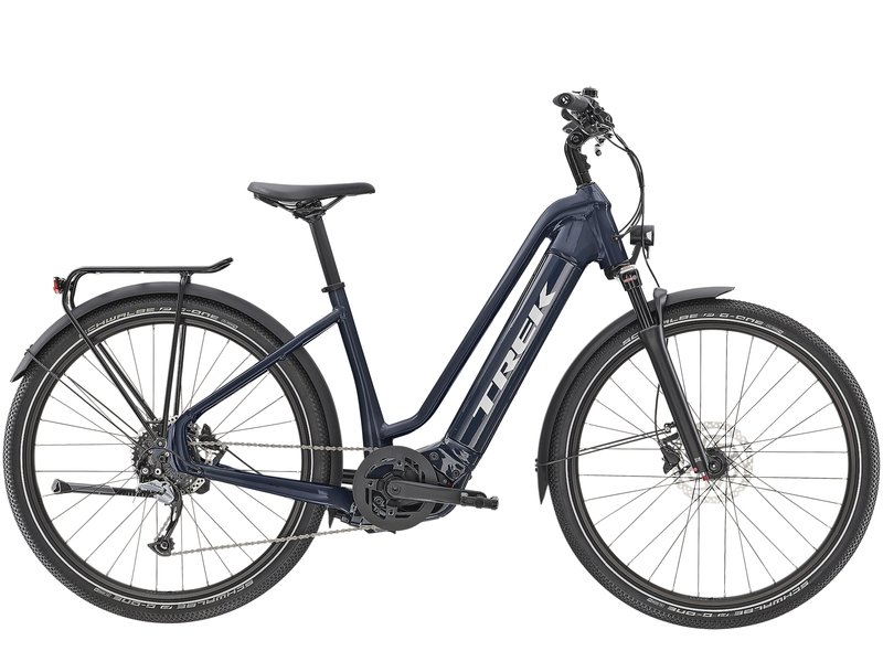 Trek Allant+ 7 Lowstep 2020 (Navy Blue) from Manual Bikes