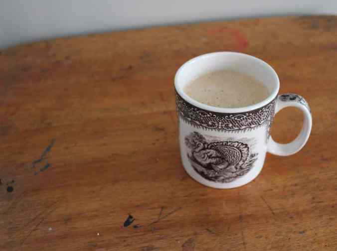 Turkey Mug Filled With Butter Coffee