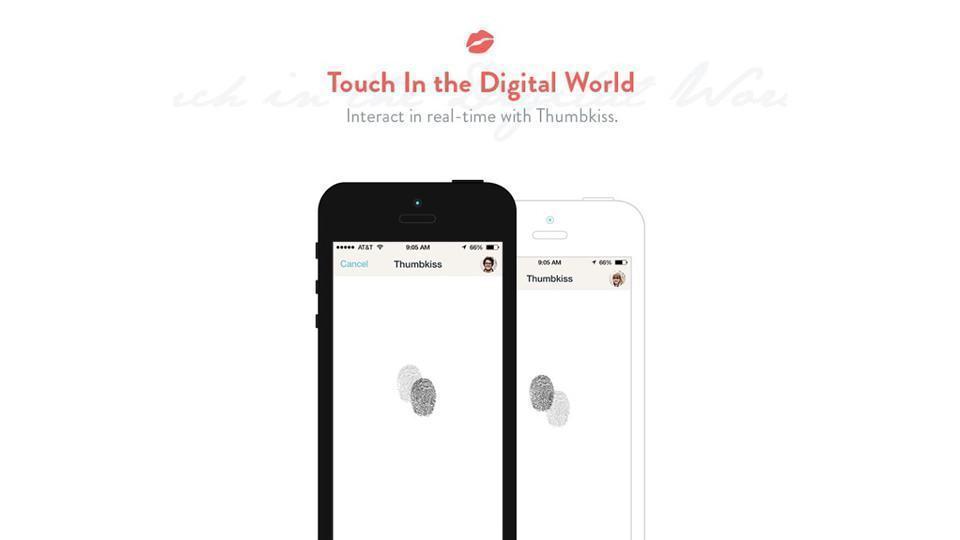 Quem manifesta o amor com impressões digitais?