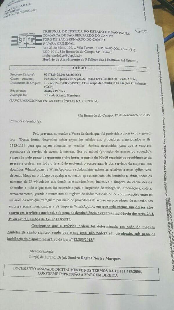 Tudo sobre o bloqueio do WhatsApp no Brasil