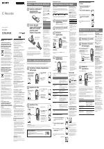 Sony ICD-B600 manuali