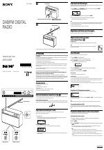 Sony XDR-S16DBP manuali