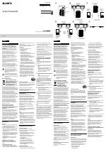 Sony SA-CS9 manuali