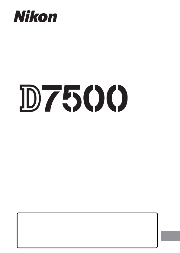 Manuale Nikon D7500 (384 pagine)