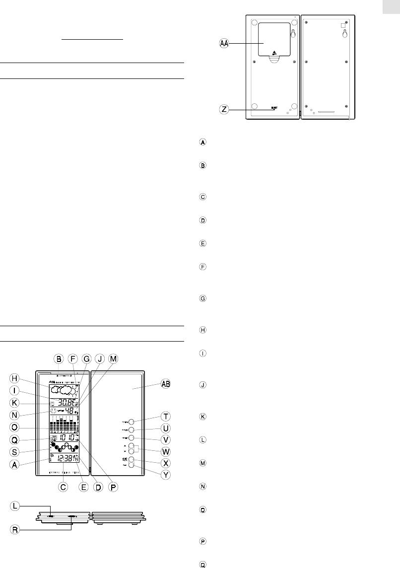 Manuale Oregon Scientific BAR928 (8 pagine)