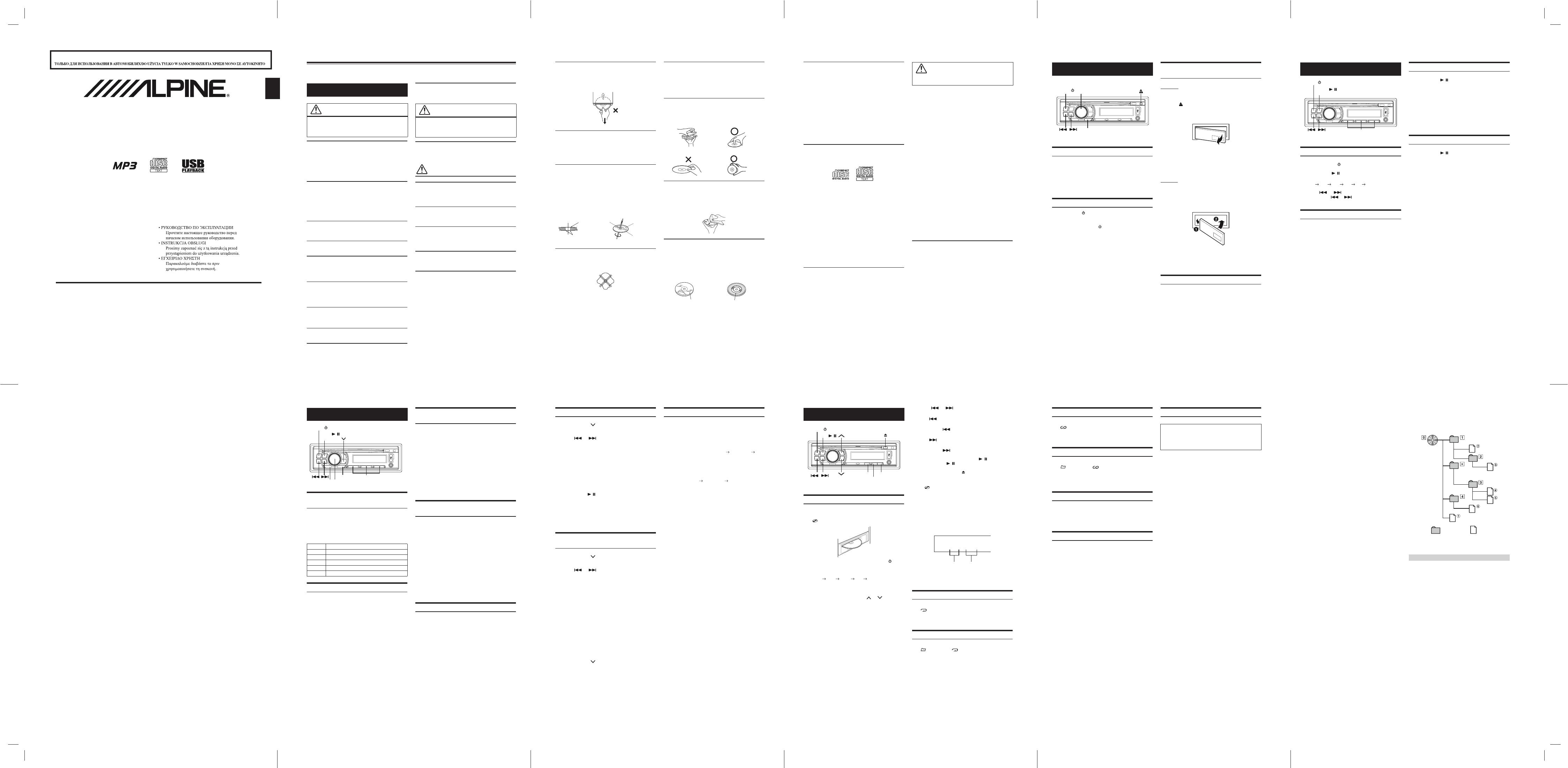 Manuale Alpine CDE-120RM (2 pagine)
