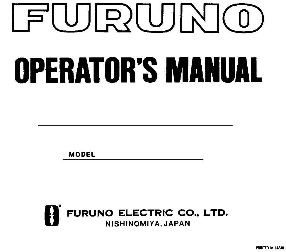 Manuale Furuno FM-2721 (75 pagine)