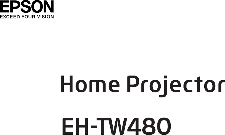 Manual de usuario Epson EH-TW480 (102 páginas)