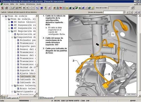 Manual Volkswagen Bora 2000 Reparación y Servicio de Suspensión Automotriz, horquilla, resortes, amortiguadores, tirante, brazos de suspensión, puente de suspensión, gomas, hules