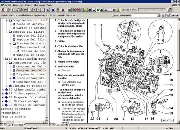 Manual Volkswagen Bora 2000 Reparación y Servicio de Motor, Pistones, bielas, juntas, soportes, cabeza, bujias, filtro de aire, filtro de gasolina, filtro de aceite