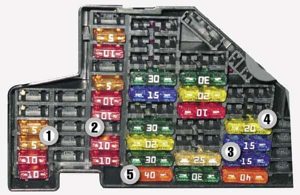 Caja de Fusibles Sistema Eléctrico LaCrosse 2009