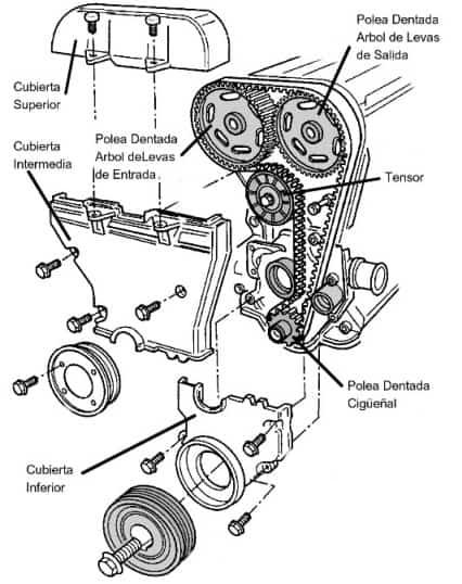 Diagrama para Cambio de Banda o Cadena de Distribución de Century 2001