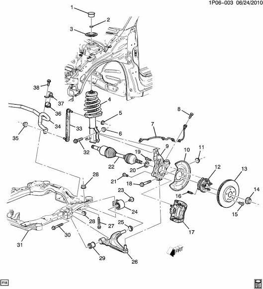 Reparar Suspensión Chevrolet Cavalier 1988 a 1995