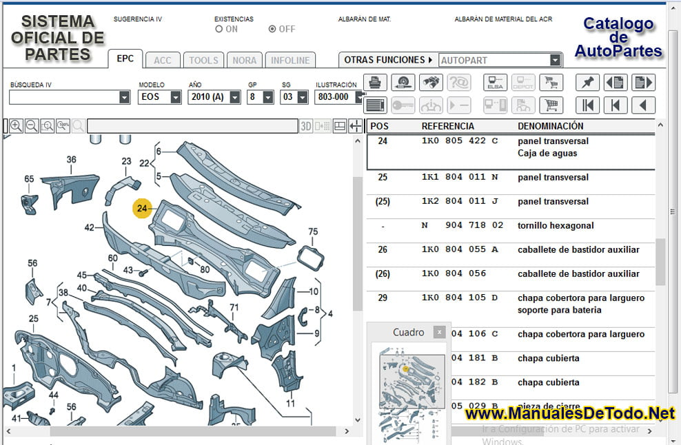 Sensores para Volkswagen Pointer Station Wagon 1999