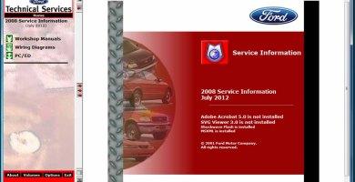 Ford TIS 2008 Sistema de Información Técnica Manuales