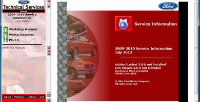 Ford TIS 2009-2010 Sistema de Información Técnica Manuales