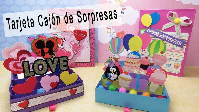 Tarjeta caj n de sorpresas manualidades apasos - Sorpresas para enamorados ...