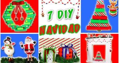 7 DIY DECORACION NAVIDEÑA con Reciclaje