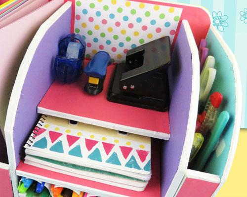 organizador de escritorio para accesorios escolares