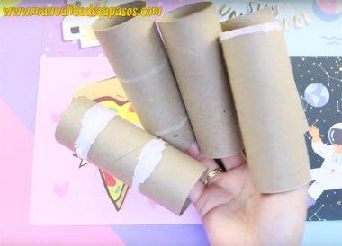 manualidades faciles con rollos de papel