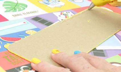 como hacer estuches de carton