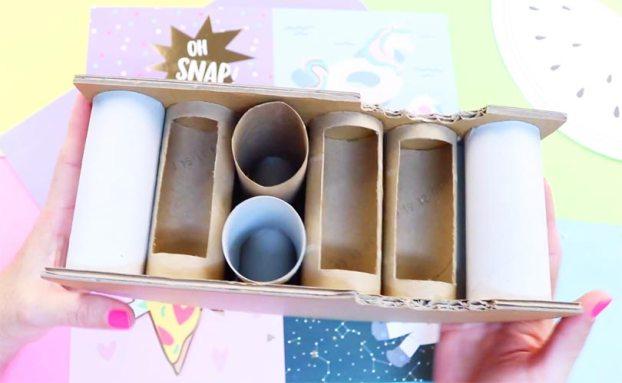 manualidades con rollos de papel higienico paso a paso