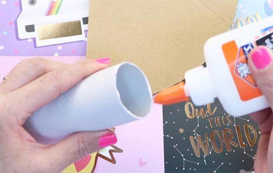 reciclaje de tubos de papel