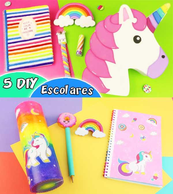 Ideas de útiles escolares de unicornio