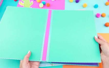como hacer una carpeta de cartulina creativa