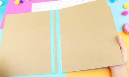 como hacer una carpeta escolar paso a paso