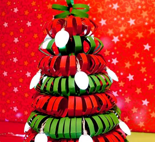 decoracion navideña con material reciclado