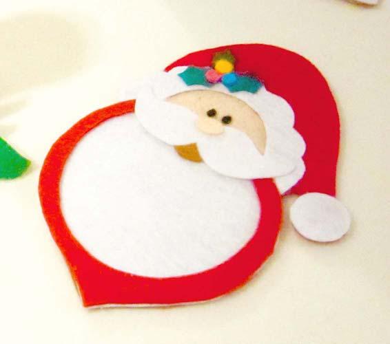 decoracion navideña en fieltro