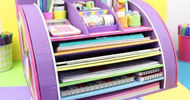 Organizador de escritorio manualidades apasos